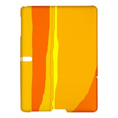 Yellow And Orange Lines Samsung Galaxy Tab S (10 5 ) Hardshell Case  by Valentinaart