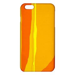Yellow And Orange Lines Iphone 6 Plus/6s Plus Tpu Case by Valentinaart