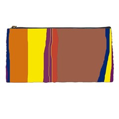 Colorful Lines Pencil Cases by Valentinaart