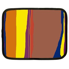 Colorful Lines Netbook Case (xl)  by Valentinaart