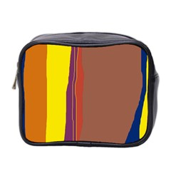 Colorful Lines Mini Toiletries Bag 2 Side by Valentinaart