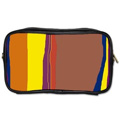 Colorful Lines Toiletries Bags 2 Side by Valentinaart