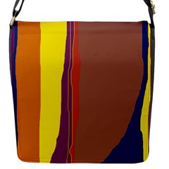 Colorful Lines Flap Messenger Bag (s)