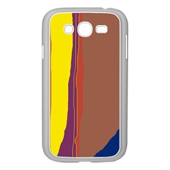 Colorful Lines Samsung Galaxy Grand Duos I9082 Case (white) by Valentinaart