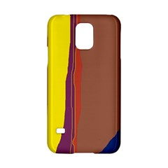 Colorful Lines Samsung Galaxy S5 Hardshell Case  by Valentinaart