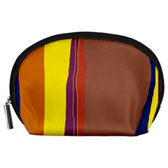 Colorful Lines Accessory Pouches (large)  by Valentinaart