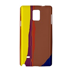 Colorful Lines Samsung Galaxy Note 4 Hardshell Case by Valentinaart
