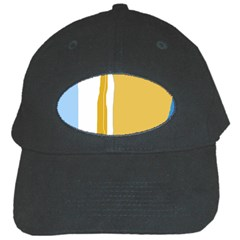 Blue And Yellow Lines Black Cap by Valentinaart