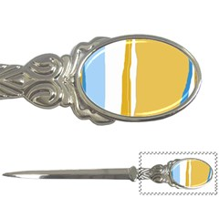 Blue And Yellow Lines Letter Openers by Valentinaart