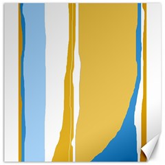 Blue And Yellow Lines Canvas 20  X 20
