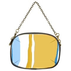 Blue And Yellow Lines Chain Purses (one Side)  by Valentinaart