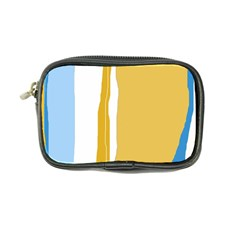 Blue And Yellow Lines Coin Purse by Valentinaart
