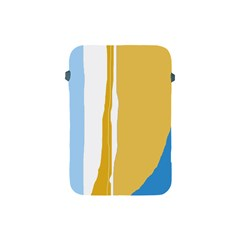 Blue And Yellow Lines Apple Ipad Mini Protective Soft Cases by Valentinaart