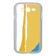 Blue And Yellow Lines Samsung Galaxy Grand Duos I9082 Case (white) by Valentinaart