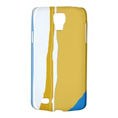 Blue And Yellow Lines Galaxy S4 Active by Valentinaart