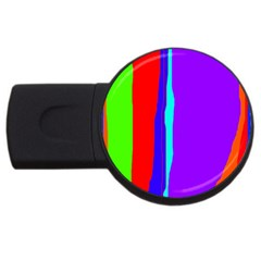 Colorful Decorative Lines Usb Flash Drive Round (4 Gb)  by Valentinaart