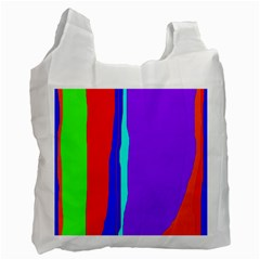 Colorful Decorative Lines Recycle Bag (one Side) by Valentinaart