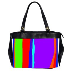 Colorful Decorative Lines Office Handbags (2 Sides)  by Valentinaart