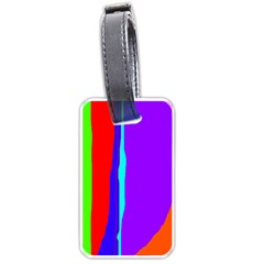 Colorful Decorative Lines Luggage Tags (two Sides) by Valentinaart