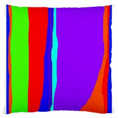 Colorful Decorative Lines Large Cushion Case (one Side) by Valentinaart