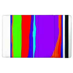 Colorful Decorative Lines Apple Ipad 3/4 Flip Case by Valentinaart