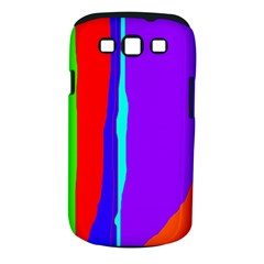 Colorful Decorative Lines Samsung Galaxy S Iii Classic Hardshell Case (pc+silicone) by Valentinaart