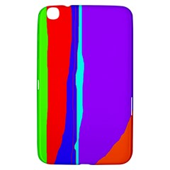 Colorful Decorative Lines Samsung Galaxy Tab 3 (8 ) T3100 Hardshell Case  by Valentinaart