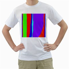 Colorful Decorative Lines Men s T-shirt (white)  by Valentinaart