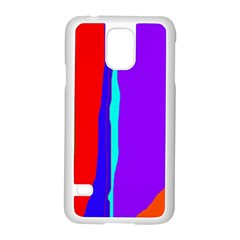 Colorful Decorative Lines Samsung Galaxy S5 Case (white) by Valentinaart