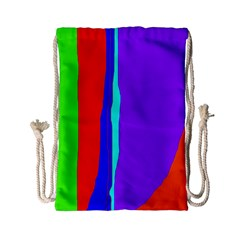Colorful Decorative Lines Drawstring Bag (small) by Valentinaart