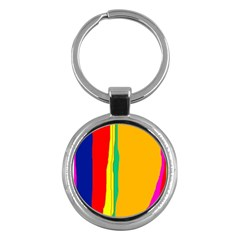 Colorful Lines Key Chains (round)  by Valentinaart