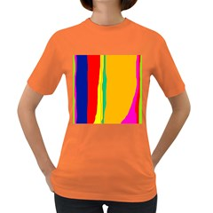 Colorful Lines Women s Dark T-shirt by Valentinaart
