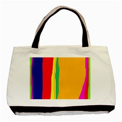 Colorful Lines Basic Tote Bag by Valentinaart