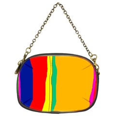 Colorful Lines Chain Purses (two Sides)  by Valentinaart