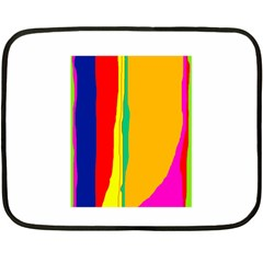 Colorful Lines Double Sided Fleece Blanket (mini)  by Valentinaart
