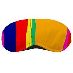 Colorful Lines Sleeping Masks by Valentinaart