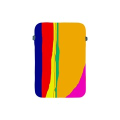 Colorful Lines Apple Ipad Mini Protective Soft Cases by Valentinaart