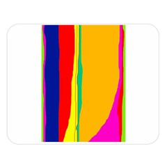 Colorful Lines Double Sided Flano Blanket (large)  by Valentinaart
