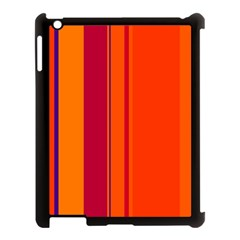 Orange Lines Apple Ipad 3/4 Case (black) by Valentinaart