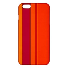 Orange Lines Iphone 6 Plus/6s Plus Tpu Case by Valentinaart
