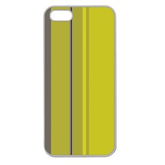 Green Elegant Lines Apple Seamless Iphone 5 Case (clear) by Valentinaart