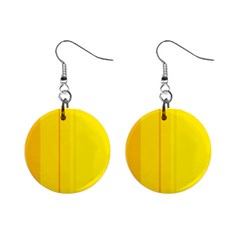 Yellow Lines Mini Button Earrings by Valentinaart