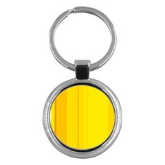 Yellow Lines Key Chains (round)  by Valentinaart