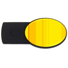 Yellow Lines Usb Flash Drive Oval (2 Gb)  by Valentinaart