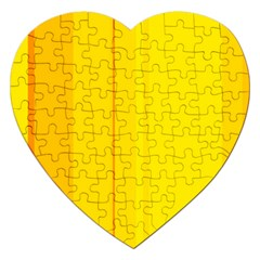 Yellow Lines Jigsaw Puzzle (heart) by Valentinaart