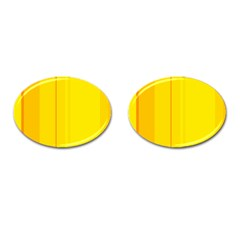 Yellow Lines Cufflinks (oval) by Valentinaart