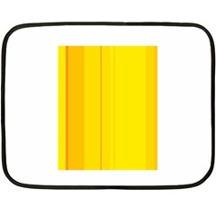 Yellow Lines Double Sided Fleece Blanket (mini)  by Valentinaart