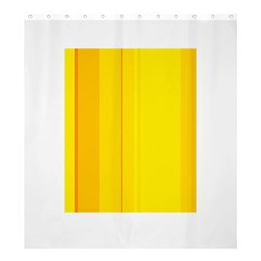 Yellow Lines Shower Curtain 66  X 72  (large)  by Valentinaart