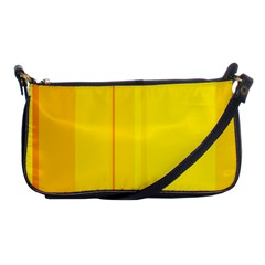 Yellow Lines Shoulder Clutch Bags by Valentinaart