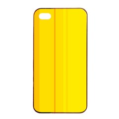 Yellow Lines Apple Iphone 4/4s Seamless Case (black) by Valentinaart